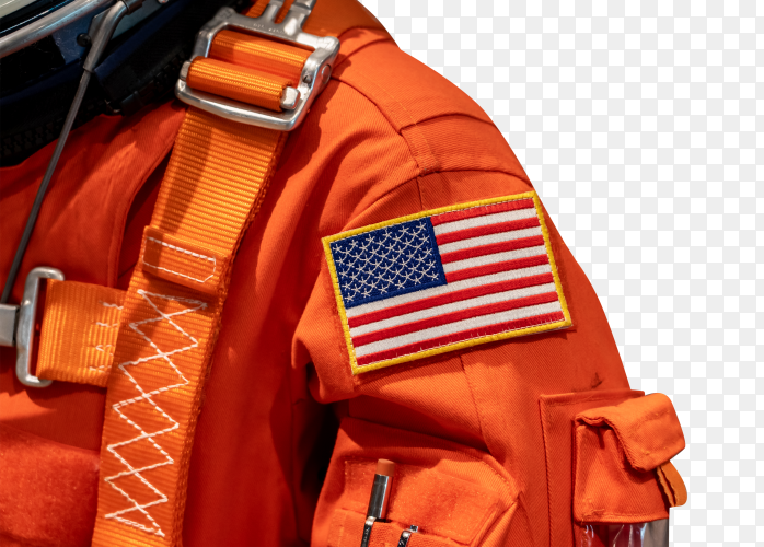 Usa flag on a space suit – premium image PNG