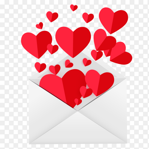 Valentine day love feelings Clipart PNG