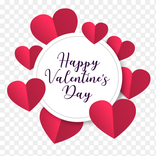 Valentines day design concept  vector PNG