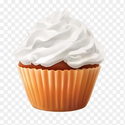 Vanilla cupcake vector PNG