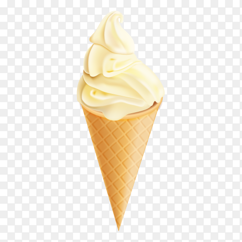 Vanilla ice cream vector PNG