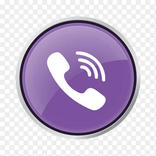 Viber phone icon vector PNG