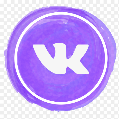 Vk ontakte icon watercolor vector PNG