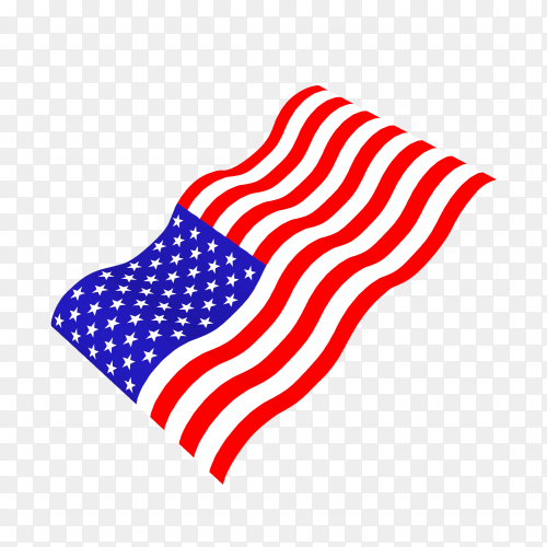 Waving united state of america national flag transparent PNG