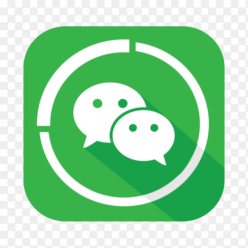 Wechat logo popular social media icon vector PNG
