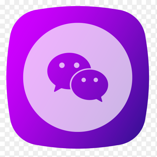 Wechat logo purple vector PNG