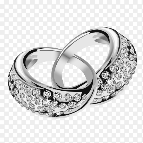 Wedding silver ring Clipart PNG