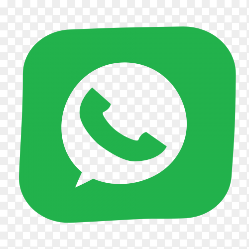 Whatsapp logo design on transparent PNG