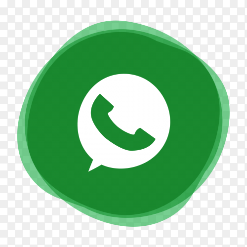 Whatsapp logo design premium vector PNG