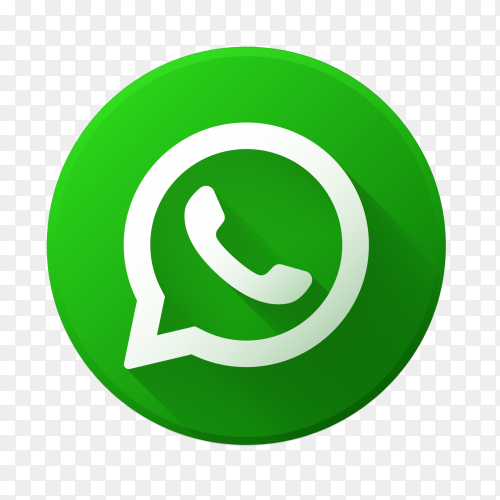 Whatsapp logo green vector PNG