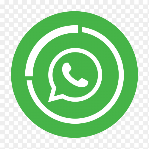 Whatsapp logo on transparent PNG