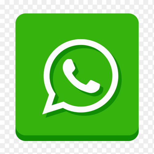 Whatsapp logo on transparent background PNG