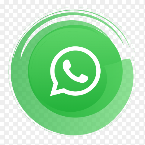 Whatsapp logo sign premuim vector PNG