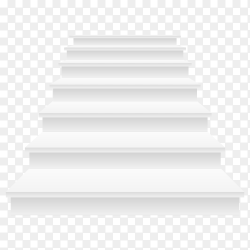 White stairs vector icon on transparent background PNG
