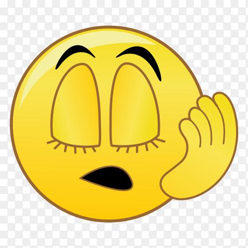 Worried face emoji vector PNG