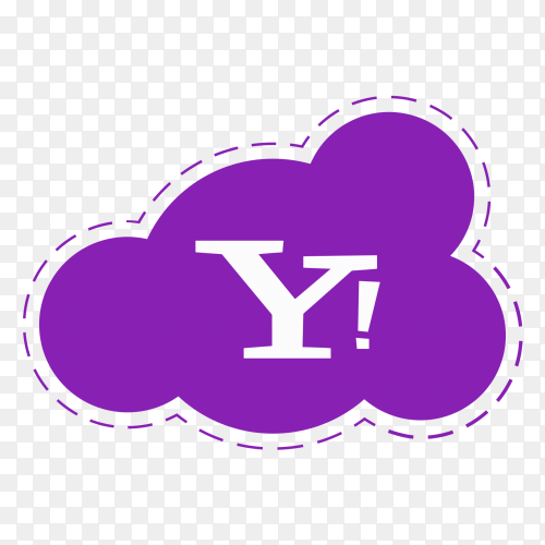 Yahoo logo icon  cloud vector PNG