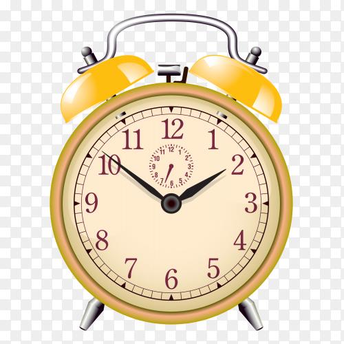 Yellow alaem clock vector PNG