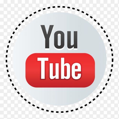 Youtube new logo style vector png