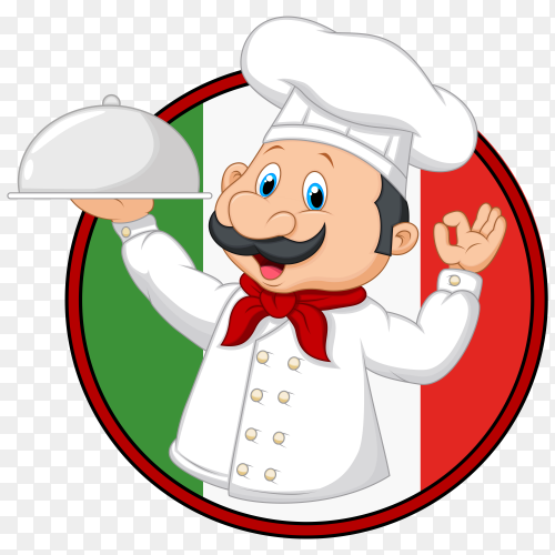 chef holding tray Vector PNG