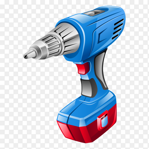 Electrical power tools clip art with transparent PNG