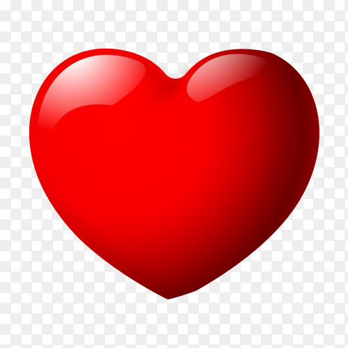 glossy heart premium clipart PNG