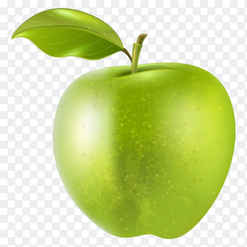 Green fruit apple natural foods with transparent PNG
