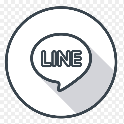 line logo gray color vector PNG