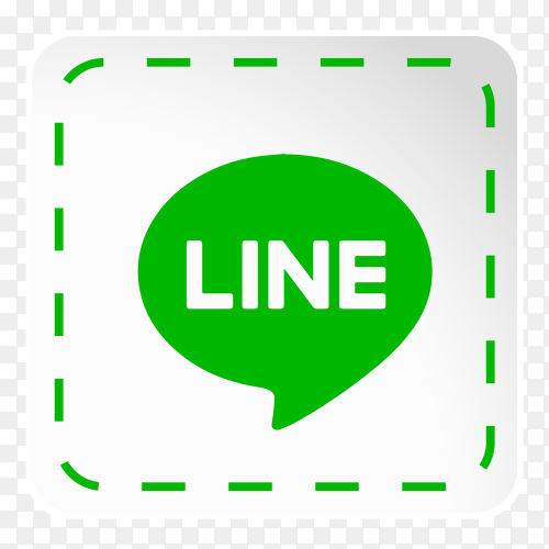 line logo icon social media sticky paper vector PNG