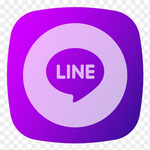 line logo purple on transparent PNG