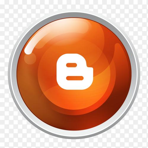 Logo Blogger button social media Vector PNG