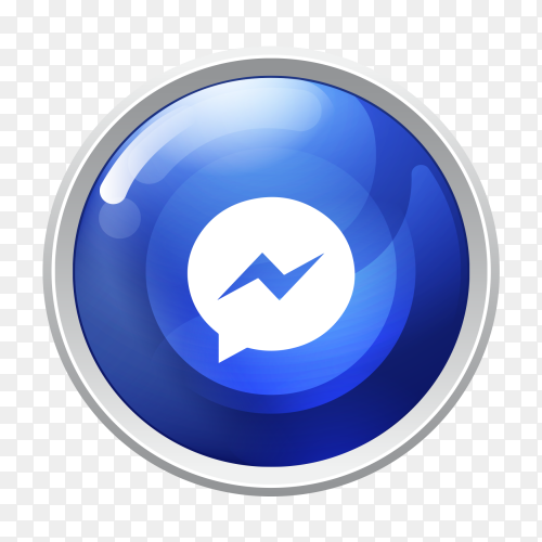 Logo Messenger button social media vector PNG
