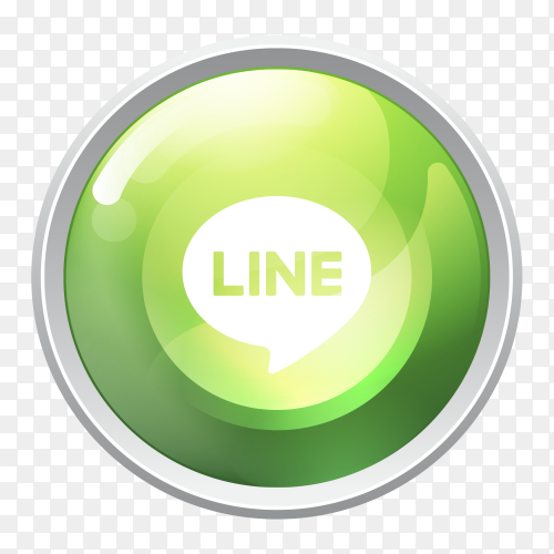Logo line button social media vector PNG