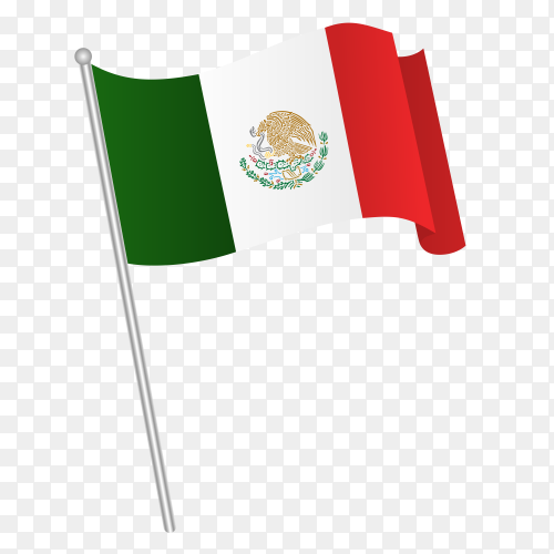 Mexico flag on Transparent PNG