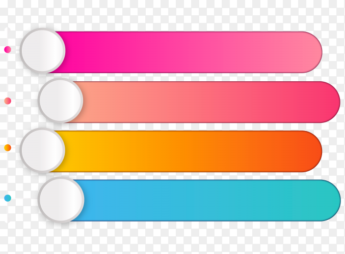 3D Bar graph on transparent background PNG