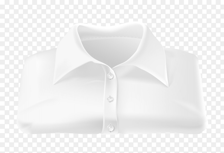 Mens white shirt on transparent background PNG