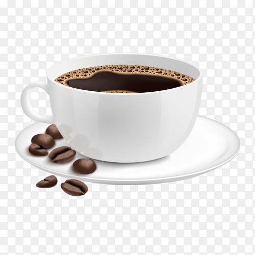 A cup of coffee design on transparent background PNG
