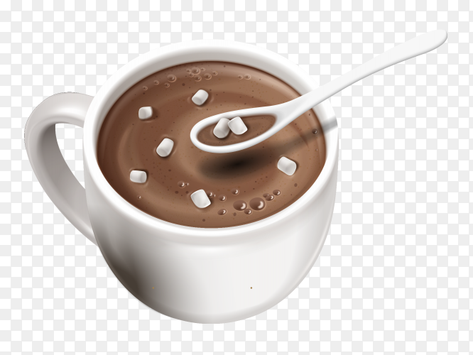 A cup of hot chocolate Clipart PNG