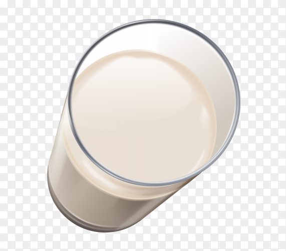A cup of milk on transparent background PNG