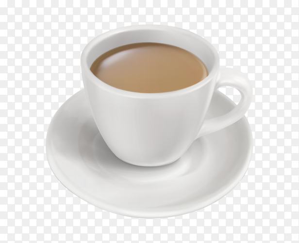 A cup of milk tea on transparent background PNG