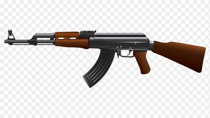 AK firearm on transparent background PNG