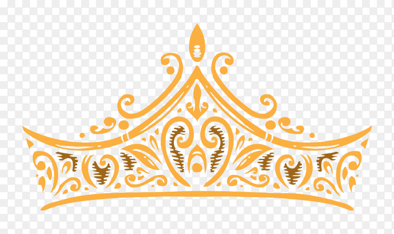 Abstract crown on transparent background PNG