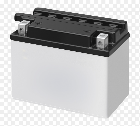 Accumulator battery car on transparent PNG