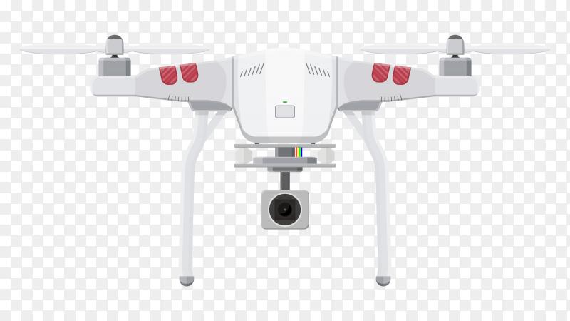 Aerial drone illustration on transparent PNG