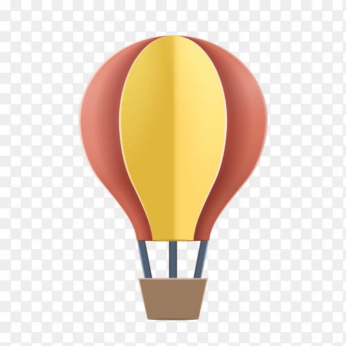 Air balloon on transparent PNG