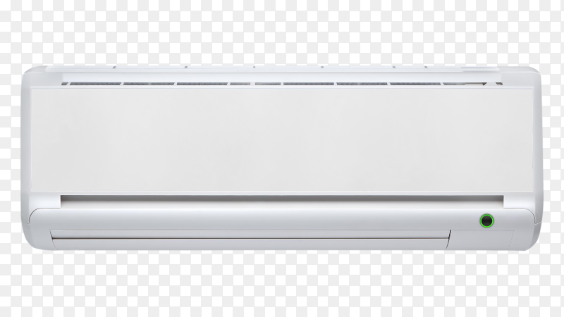 Air conditioner machine on transparent background PNG