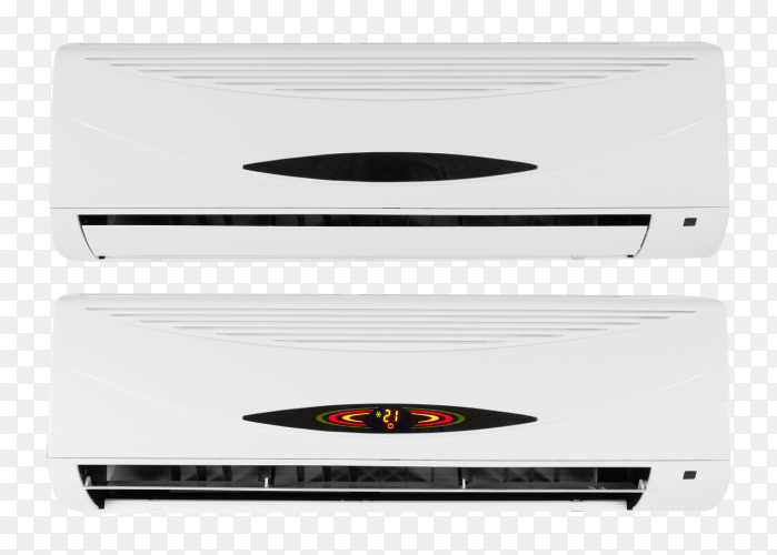 Air conditioner system on transparent PNG