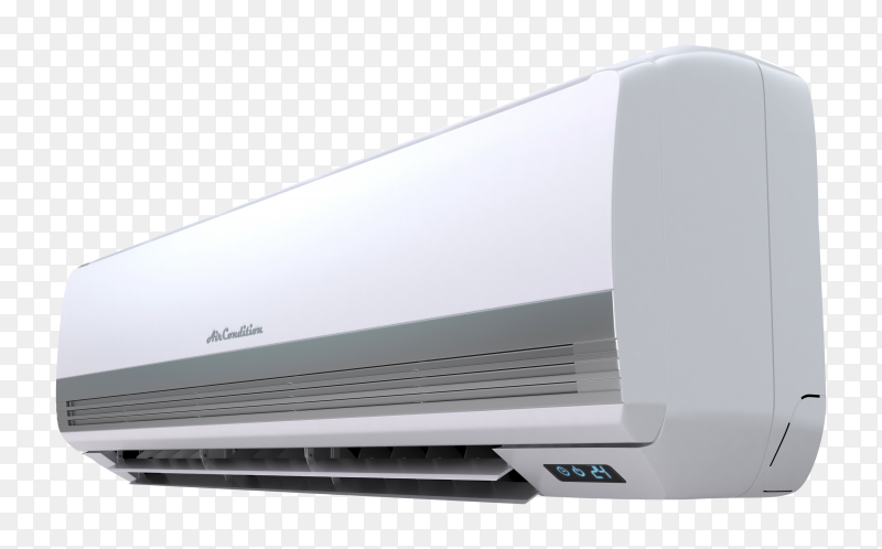 Air conditioner system isolated on transparent background PNG
