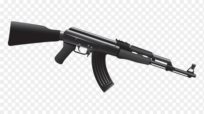 Ak firearm on transparent PNG
