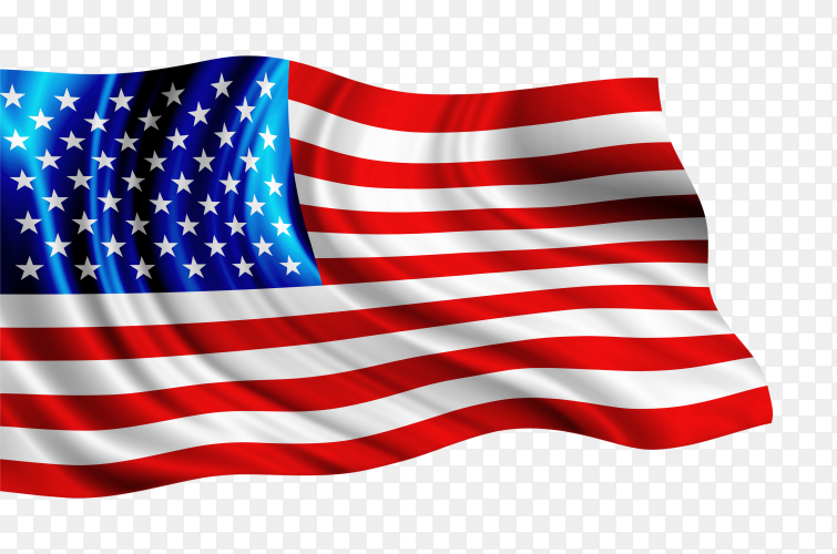 America flag isolated on transparent background PNG