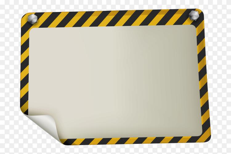 An under construction signboard Premium vector PNG